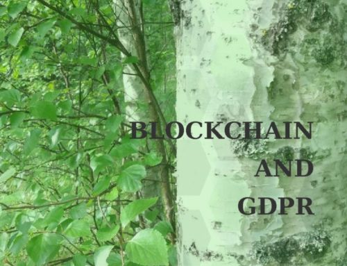 Blockchains and GDPR