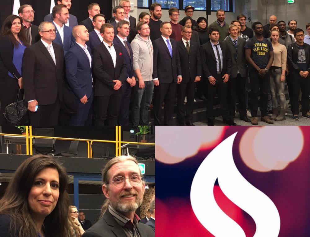 President of Poland visits Startup Sauna; Chainfrog also present